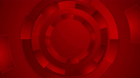 dijital : Bright red technology futuristic gears motion background. Video animation Ultra HD 4K 3840x2160