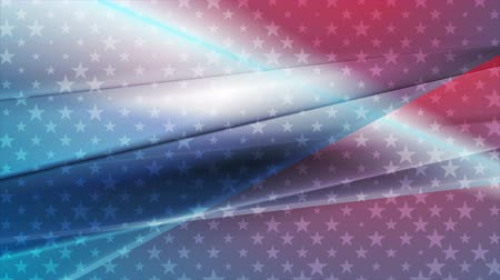 veteran's day : USA colors abstract bright motion design. Independence Day clip. Video animation Ultra HD 4K 3840x2160 Stock Footage
