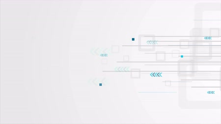 ультра : Gray and blue technology background with arrows. Video corporate animation Ultra HD 4K 3840x2160 Стоковые видеозаписи
