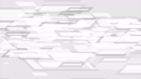 geométrico : Gray and white tech geometric abstract motion design. Seamless loop. Video animation Ultra HD 4K 3840x2160