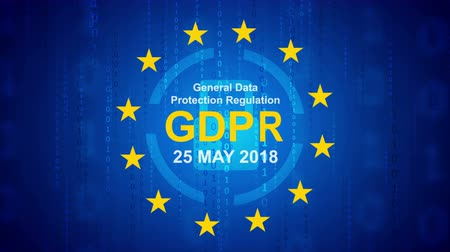 gdpr : GDPR - General Data Protection. Video animation Ultra HD 4K 3840x2160