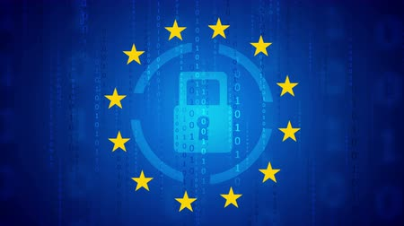 gdpr : GDPR - General Data Protection. Seamless loop. Video animation Ultra HD 4K 3840x2160