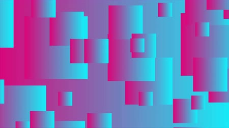 hi fi : Pink and blue abstract squares. Seamless looping. Video animation Ultra HD 4K 3840x2160 Stock Footage