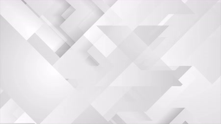 paper clip : Gray tech geometric minimal motion background. Video seamless looping animation Ultra HD 4K 3840x2160
