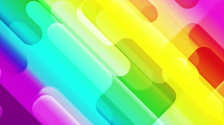 plakát : Colorful abstract geometric shapes. Seamless loop. Video animation Ultra HD 4K 3840x2160