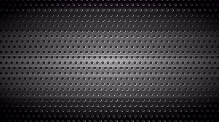 gray background : Dark chrome perforated metal texture motion background. Seamless loop graphic design. Video metallic animation Ultra HD 4K 3840x2160 Stock Footage