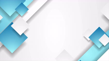 hi fi : Blue and gray abstract geometric corporate motion background with squares. Seamless loop. Video animation Ultra HD 4K 3840x2160 Stock Footage