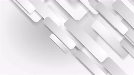 clipe de papel : White and gray paper geometric diagonal rectangle shapes motion background. Seamless looping. Video animation Ultra HD 4K 3840x2160