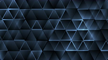 rysunek techniczny : Dark blue abstract tech triangles geometric motion design. Seamless loop. Video animation Ultra HD 4K 3840x2160 Wideo