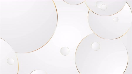 eleganckie : Gray and bronze circles abstract corporate motion design. Seamless loop. Video animation Ultra HD 4K 3840x2160