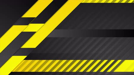 black yellow : Orange and black abstract geometric tech motion design. Seamless loop. Video animation Ultra HD 4K 3840x2160