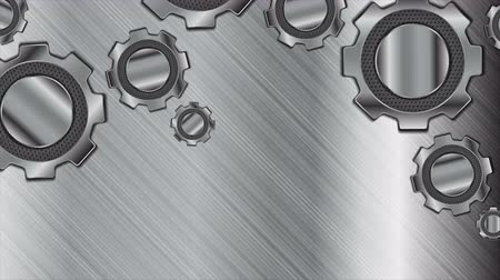 hi fi : Abstract technology metallic gears. Seamless looping. Video animation Ultra HD 4K 3840x2160 Stock Footage