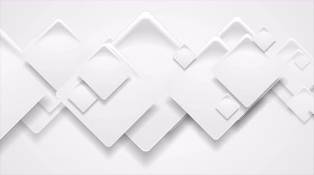clipe de papel : Abstract geometric gray geometric paper squares motion design. Seamless loop. Video animation Ultra HD 4K