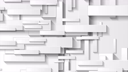 clipe de papel : Abstract gray tech geometric rectangles video animation