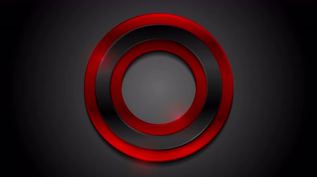 camsı : Red black glossy circles abstract video animation Stok Video