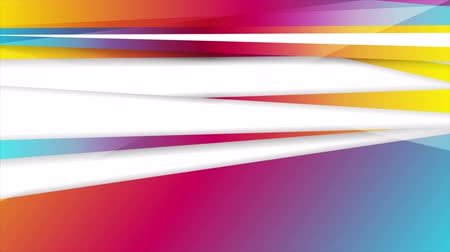 klipleri : Abstract vibrant stripes corporate video animation
