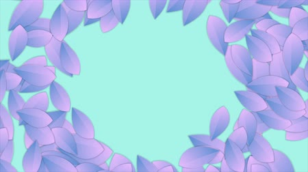 minimalizm : Neon surreal minimal leaves abstract video animation