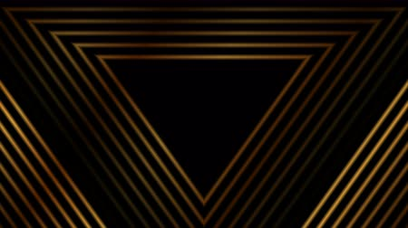 minimalizm : Luxury golden abstract triangles video animation