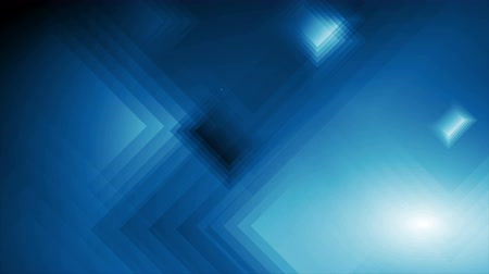 hi fi : Dark blue technology squares abstract video animation Stock Footage