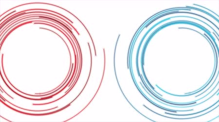 hi fi : Blue and red HUD circles futuristic video animation Stock Footage