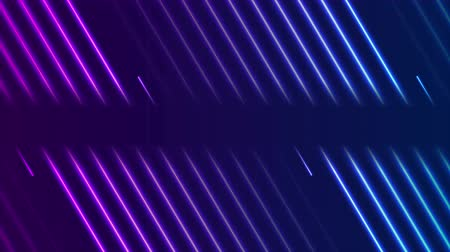 absztrakt : Blue violet neon laser lines video animation