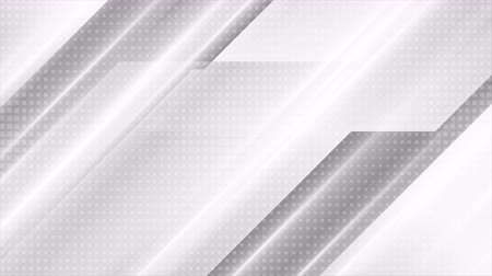 rysunek techniczny : Gray white smooth stripes geometry video animation