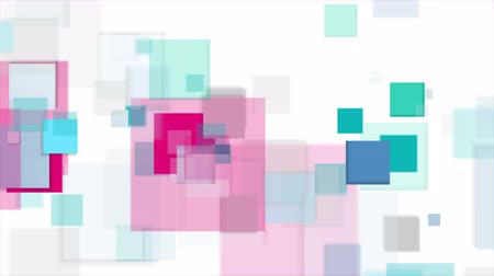 pink : Cyan and pink squares tech abstract video animation Stock Footage