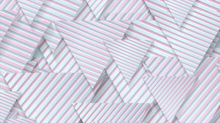 скрепки : Blue pink paper triangles with striped texture video animation Стоковые видеозаписи