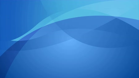 folheto : Abstract blue elegant waves video animation Stock Footage