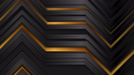 flexionar : Abstract black and bronze glossy stripes technology video animation