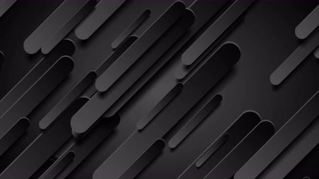 clipe de papel : Abstract black hi-tech diagonal shapes geometric motion animated background