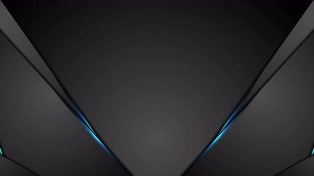 brochura : Black abstract animated background with blue glowing light