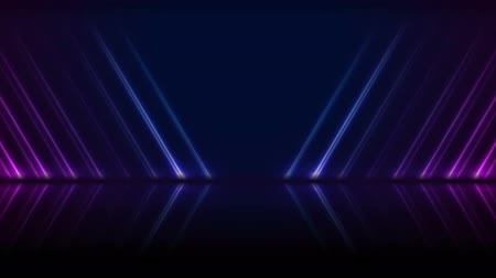 ultraviolet : Blue ultraviolet neon laser lines technology video animation Stock Footage