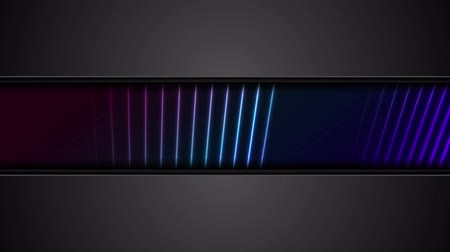 hi fi : Black tech corporate abstract background with neon lines Stock Footage
