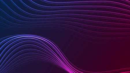 lom světla : Abstract futuristic blue purple neon wavy motion animated background