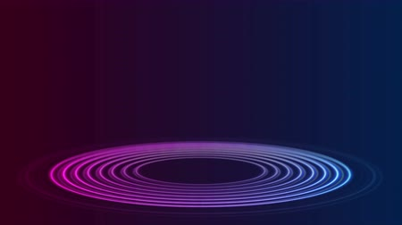 флуоресцентный : Bright neon circle rings abstract sci-fi video animation