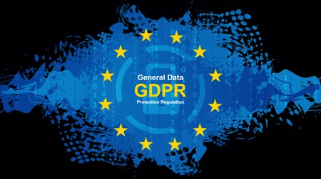 gdpr : General Data Protection Regulation - GDPR hi-tech motion animated background