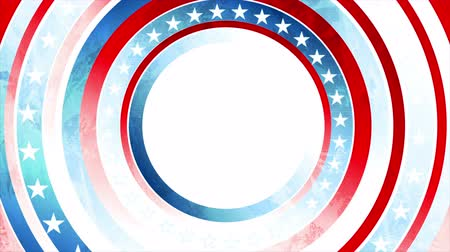 election campaign : Grunge concept USA flag abstract motion animated background Stock Footage