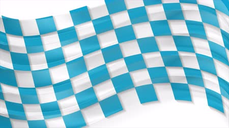 bavaria flag : Blue Oktoberfest waving flag abstract video animation