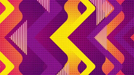rysunek techniczny : Retro geometric abstract orange violet motion background