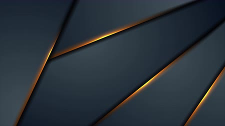 hi fi : Dark blue abstract animated background with orange glowing light