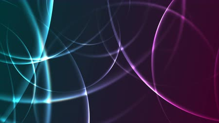 シアン : Abstract glowing neon blue purple circles geometric motion background