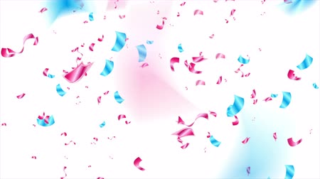 serpentine : Blue purple glitter confetti abstract video animation Stock Footage