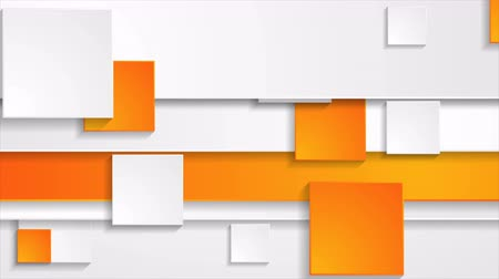 mozgás : Orange grey abstract corporate motion background with squares