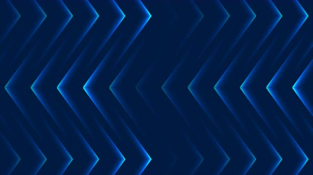 fluorescent : Blue abstract neon arrows tech video animation Stock Footage