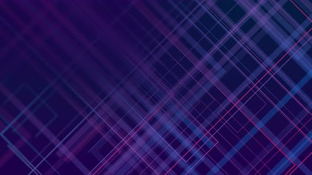 geometric : Blue violet abstract lines technology futuristic video animation Stock Footage