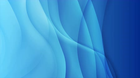 iridescente : Bright blue smooth blurred waves abstract elegant motion background
