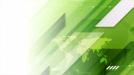 hi fi : Abstract green technology futuristic HUD gear motion background