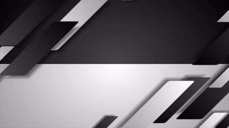 hi fi : Contrast black white tech geometric motion background