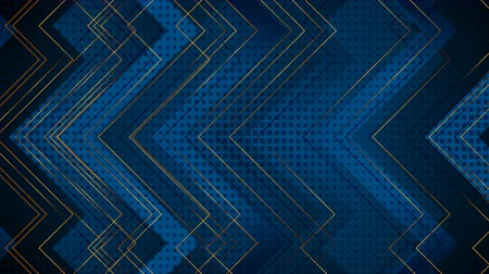 bronz : Blue and golden tech abstract arrows motion background